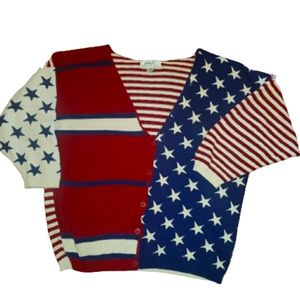 American Flag Plus Size Knit Sweater 26/28 VINTAGE